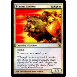 Blanche - Blazing Archon Foil (R) [GRAVEB]