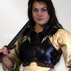 Armure - Femme ROGUE noir/brune (M à L)