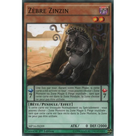 Zèbre Zinzin (C) [MP16]