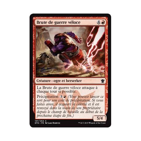 Rouge - Brute de guerre véloce (C) [DTK] FOIL