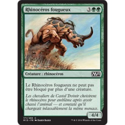 Verte - Rhinocéros fougueux (C) [M15] FOIL