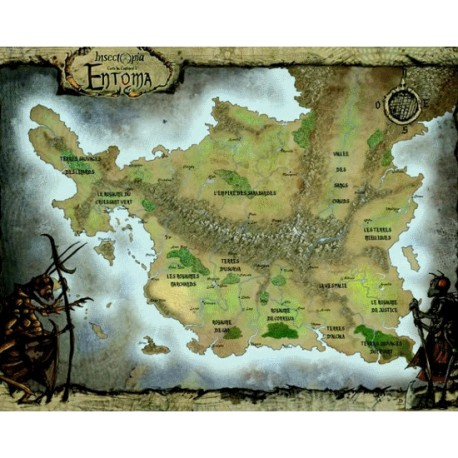 Insectopia - Carte du Monde