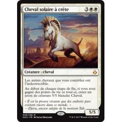 Blanche - Cheval solaire à crête (M) [HOU]