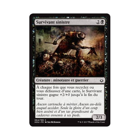 Noire - Survivant sinistre (C) [HOU] FOIL
