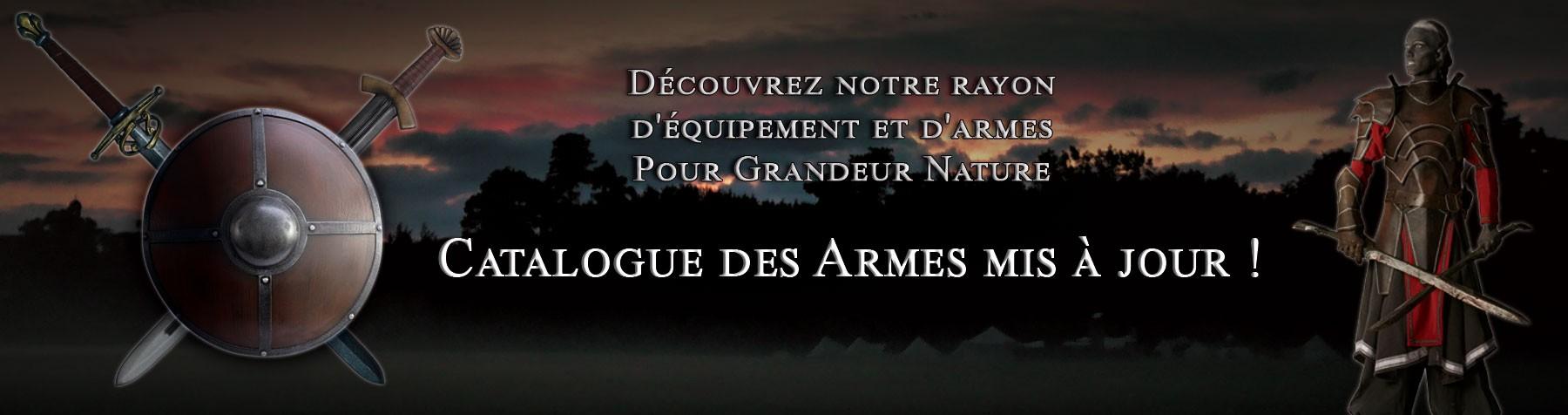 Armes et Equipements pour Grandeur Nature