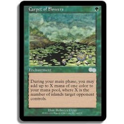 Verte - Tapis de fleurs (U)