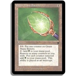 Artefact - Green mana battery (U)