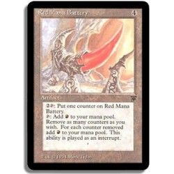 Artefact - Red mana battery (U)
