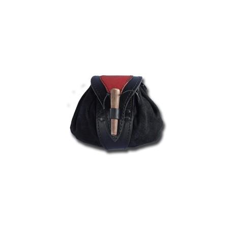Bourse de Ceinture Noir/Rouge