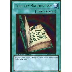 Table Des Matières Toon (GOLD) [GOLD4]