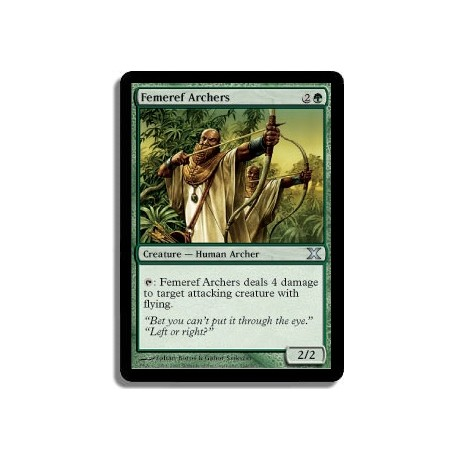 Verte - Archers fémeirefs (U)