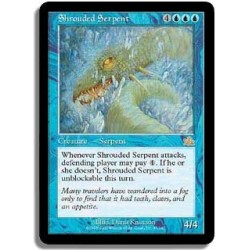 Bleue - Grand serpent camouflé (FOIL R)