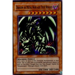 Dragon du Métal Noir aux Yeux Rouges (Super Rare)