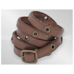 Bracelet Multistrap Marron