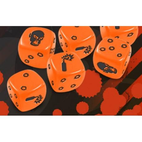 Zombicide - Set de Dés Orange (Dispo)