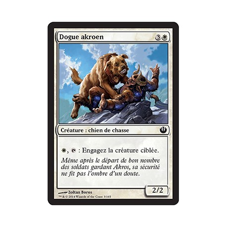 Blanche - Dogue akroen (C) [JOU] FOIL