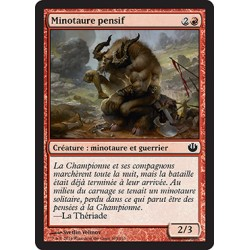 Rouge - Minotaure pensif (C) [JOU] FOIL