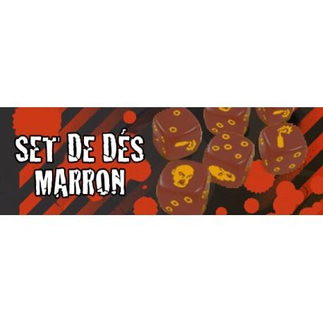 Zombicide - Set de Dés Marron