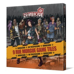 Zombicide - 9 Rue Morgue Game Tiles