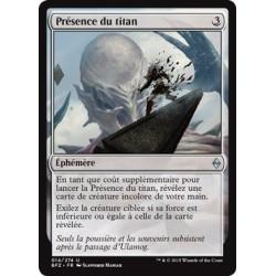 Incolore - Présence du titan (U) [BFZ] FOIL