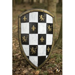 Bouclier à Carreaux Blanc/Noir (Checkered Shield)