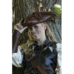 Tricorne Pirate Cuir