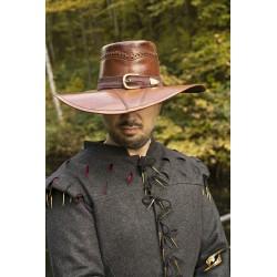 Chapeau de Cuir de Chasseur de Sorcière