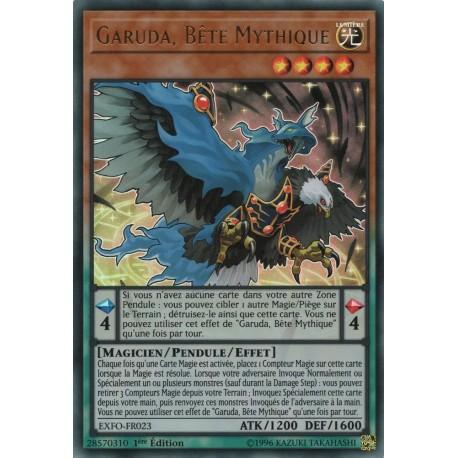 Yugioh - Garuda, Bête Mythique (UR) [EXFO]