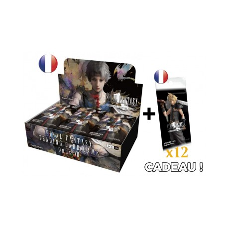 Final Fantasy - Opus VII - Boîte de 36 boosters VF + 12 booster Opus IV offerts