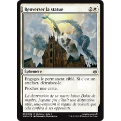 Blanche - Renverser la statue (C) Foil [WAR]