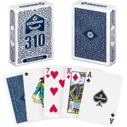 copag 310 - 2 jeux de 54 cartes toilées plastifiées - format poker - 2 index standards