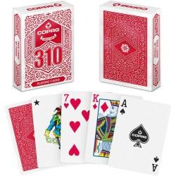COPAG 310 - jeu de cartes toilées plastifiées : Rouge