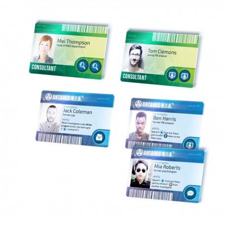 Detective - Cartes d'Identité en français (x6)