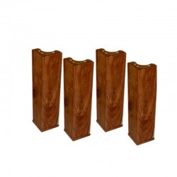 Carrom : 4 pieds de table 47 cm en acacia