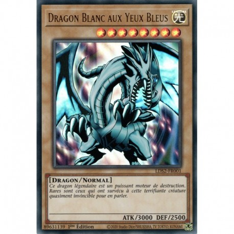 Dragon Blanc aux Yeux Bleus - titre Vert (UR) [LDS2] - Yu-Gi-Oh!