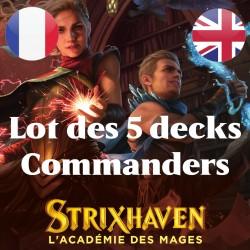 Lot des 5 decks Commanders Strixhaven - Magic The Gathering