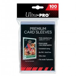 "100 Protège-cartes souples Premium - Premium Card Sleeves (2 ½"" x 3 ½"")"
