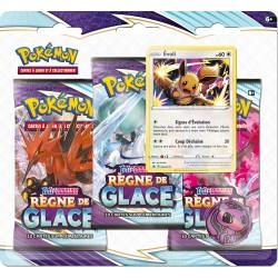 Pack 3 boosters Règne de Glace : Evolie - Pokémon