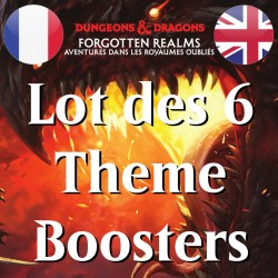 Lot des 6 THEME Boosters D&D Forgotten Realms - Magic The Gathering (23/07/21)