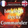 Lot des 4 Decks Commander D&D Forgotten Realms - Magic The Gathering (23/07/21)