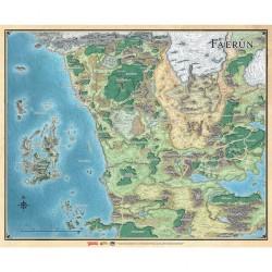D&D 5 : Faerûn - Carte du continent  - Dungeons & Dragons 5edt