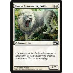 Blanche - Lion à fourrure argentée (C)