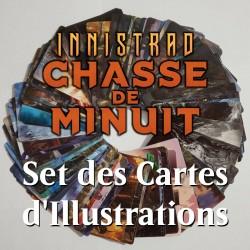 Set des cartes d'Illustrations Innistrad Chasse de Minuit - Magic The Gathering